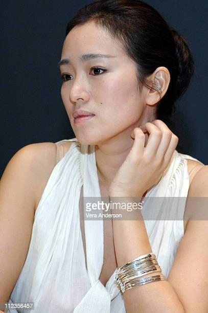 Gong Li during 'Memoirs of a Geisha' Press Conference with Michelle Yeoh and Gong Li at Waldorf Astoria Hotel in New York City New York United States