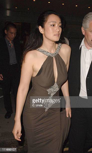 Gong Li during 'Miami Vice' London Premiere After Party at Sanderson Hotel in London Great Britain