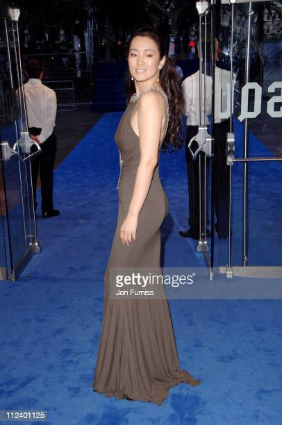 Gong Li during 'Miami Vice' London Premiere Inside Arrivals at Odeon Leicester Square in London Great Britain