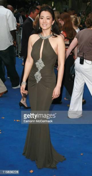 Gong Li during 'Miami Vice' London Premiere – Outside Arrivals at Odeon Leicester Square in London Great Britain
