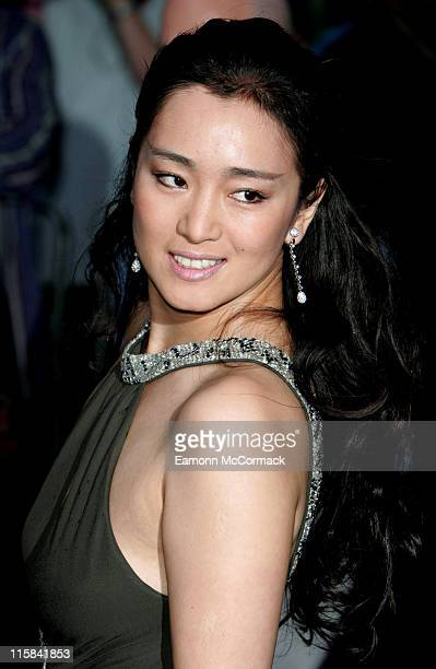 Gong Li during Miami Vice London Premiere – Outside Arrivals at Odeon Leicester Square in London Great Britain
