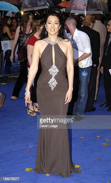 Gong Li during Miami Vice London Premiere Outside Arrivals at Odeon Leicester Square in London Great Britain