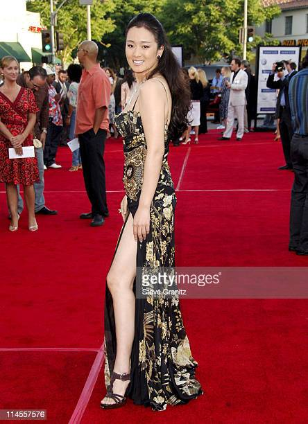 Gong Li during Miami Vice Los Angeles Premiere Arrivals at Mann Village in Westwood California United States