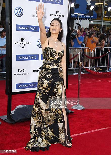 Gong Li during 'Miami Vice' Los Angeles Premiere Arrivals at Mann Village in Westwood California United States