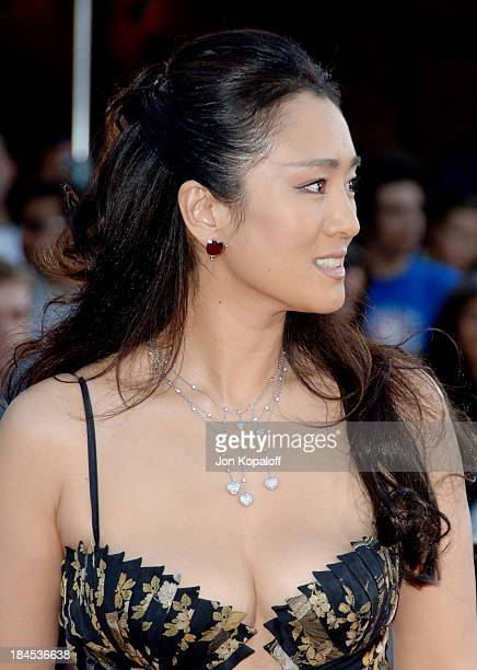 Gong Li during Miami Vice World Premiere Arrivals at Mann Village Westwood in Westwood California United States