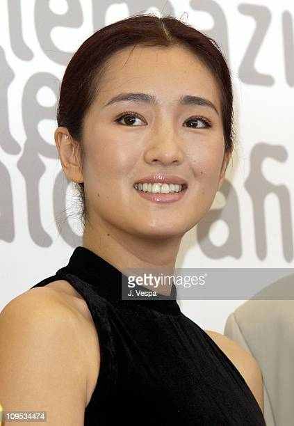 Gong Li the head of the International Jury for the 2002 Venice Film Festival