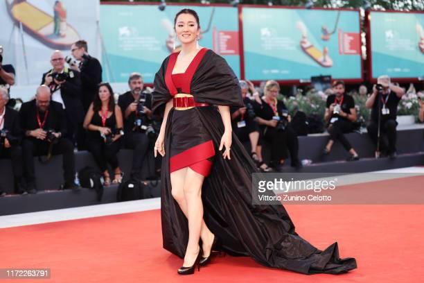 Gong Li walks the red carpet ahead of the Lan Xin Da Ju Yuan screening during the 76th Venice Film Festival at Sala Grande on September 04 2019 in...