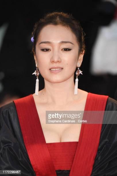 "Gong Li walks the red carpet ahead of the ""Lan Xin Da Ju Yuan"" screening during the 76th Venice Film Festival at Sala Grande on September 04, 2019 in..."