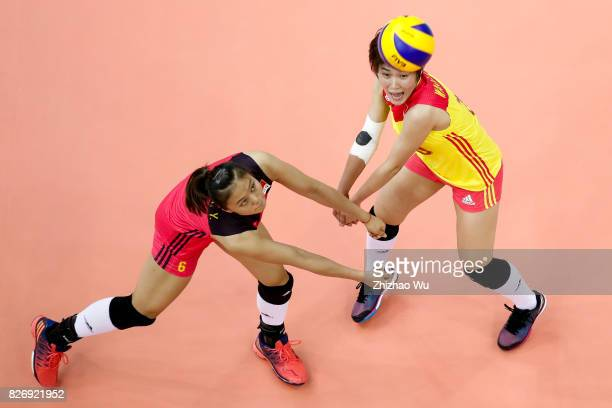 Gong Xiangyu of China during 2017 Nanjing FIVB World Grand Prix Finals between China and Serbia on August 6 2017 in Nanjing China