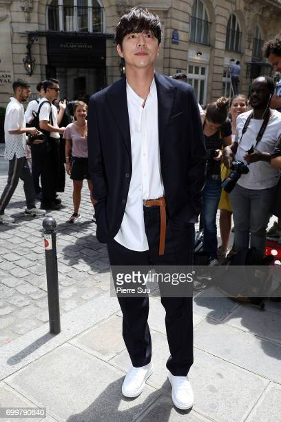 Gong Yoo attends the Louis Vuitton Menswear Spring/Summer 2018 show as part of Paris Fashion Week on June 22 2017 in Paris France