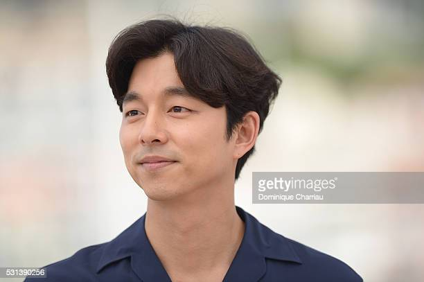 """Gong Yoo attends the """"Train To Busan """" photocall during the 69th Annual Cannes Film Festival on May 14, 2016 in Cannes, France."""