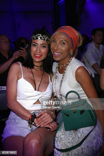 Gonul Pehlivan and Julia Prillwitz attend the 3D Fashion Presented By Lexus/Voxelworld show during Platform Fashion July 2017 at Areal Boehler on...
