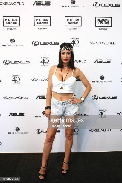 Gonul Pehlivan attends the 3D Fashion Presented By Lexus/Voxelworld show during Platform Fashion July 2017 at Areal Boehler on July 22 2017 in...