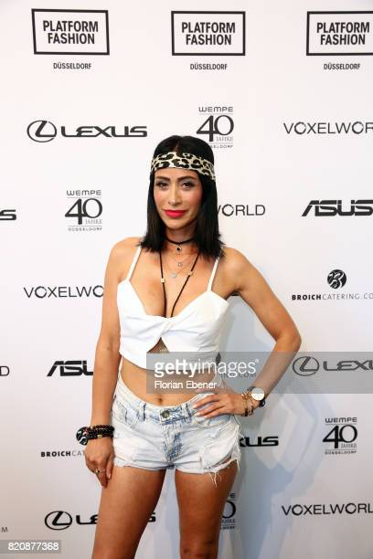 Gonul Pehlivan attends the 3D Fashion Presented By Lexus/Voxelworld show during Platform Fashion July 2017 at Areal Boehler on July 22, 2017 in...