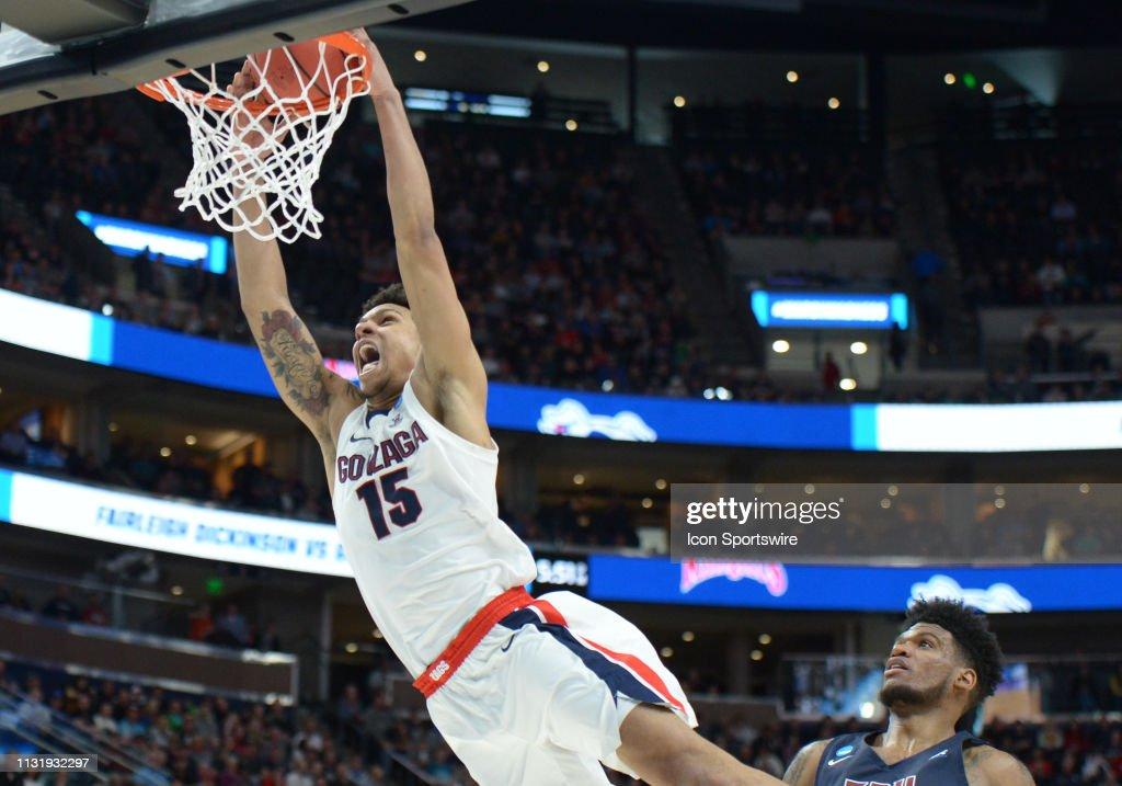 NCAA BASKETBALL: MAR 21 Div I Men's Championship - First Round - Gonzaga v Dickinson-PV A&M : News Photo