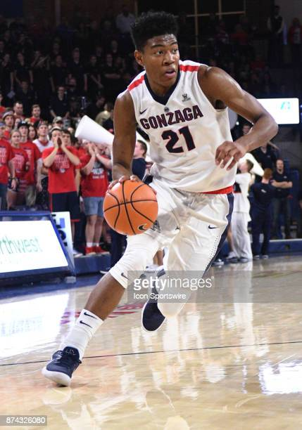 Gonzaga forward Rui Hachimura drives to the basket during the game between Gonzaga and Howard on November 14 at McCarthey Athletic Center in Spokane...