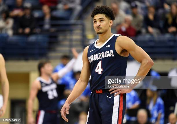 Gonzaga Ryan Woolridge looks on during a college basketball game between the Gonzaga Bulldogs and the San Diego Toreros on January 09 at the Jenny...