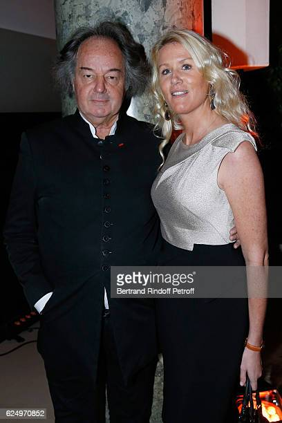 Gonzague Saint Bris and Alice Bertheaume attend the Diner des amis de Care for the 70th anniversary of the Association Held at Espace Cambon on...