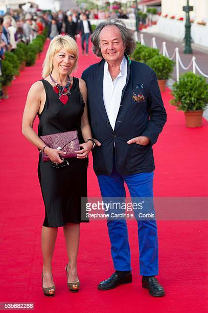 Gonzague Saint Bris and guest attend the 27th Cabourg Romantic Film Festival in Cabourg
