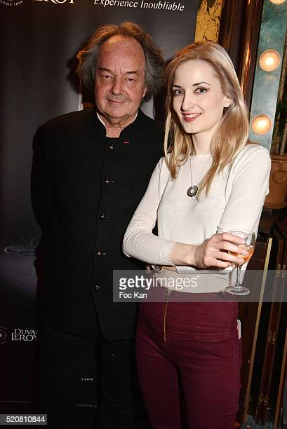 Gonzague Saint Bris and Selin Olivia Turhangil attend La Closerie Des Lilas Literary Awards 2016 at La Closerie des Lilas on April 12 2015 in Paris...