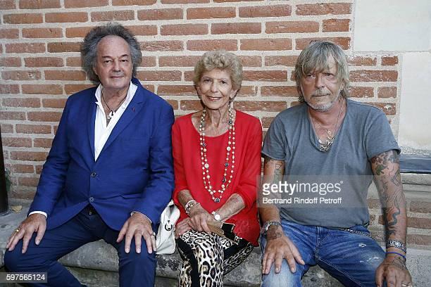 Gonzague Saint Bris Helene Carrere d'Encausse and Singer Renaud attend the Diner Party at 'Chateau du Clos Lucebefore 21th 'La Foret Des Livres' Book...