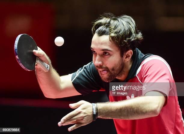 """Gonzalez Daniel of Peru """"n in action during the Table Tennis World Championship at Messe Duesseldorf on May 29, 2017 in Dusseldorf, Germany."""