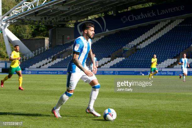 Gonzalo Avila 'Pipa' of Huddersfield Town during the Sky Bet Championship match between Huddersfield Town and Norwich City at John Smith's Stadium on...