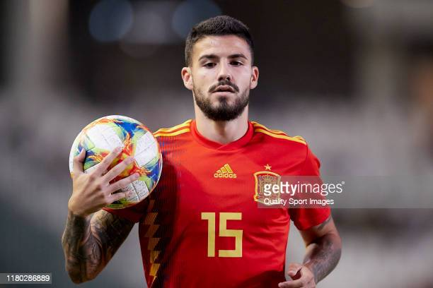 Gonzalo Avila Pipa of Spain looks on during the International Friendly match between Spain U21 and Germany U21 at Estadio Nuevo Arcangel on October...