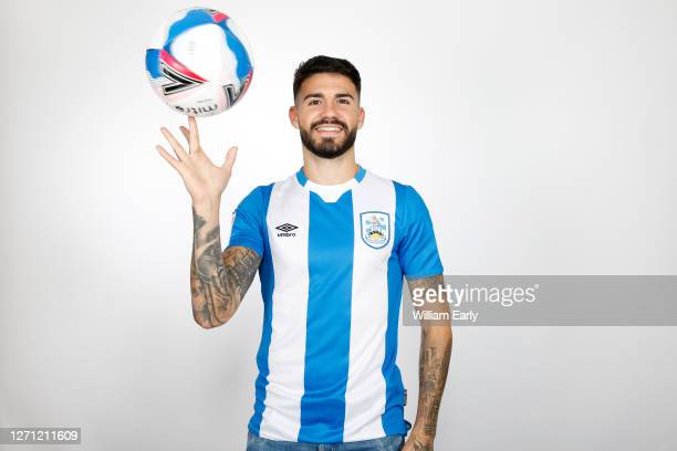 Gonzalo Avila 'Pipa' signs for Huddersfield from RCD Espanyol at PPG Canalside on September 07, 2020 in Huddersfield, England.