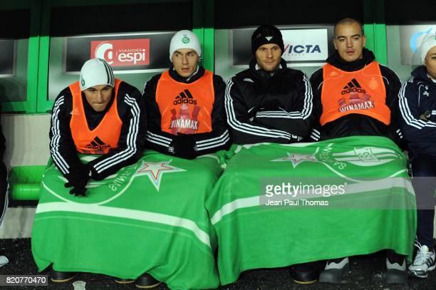 Gonzalo BERGESSIO / Christophe LANDRIN / Sylvain MARCHAL / Jessy MOULIN Saint Etienne / Arles Avignon 18e journee Ligue 1