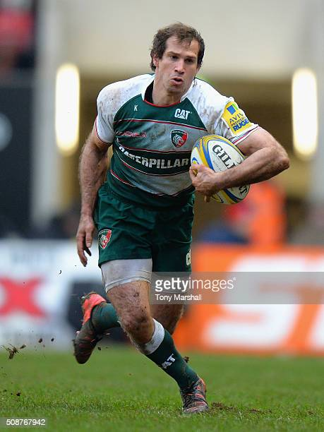 Gonzalo Camacho of Leicester Tigers during the Aviva Premiership match between Leicester Tigers and Sale Sharks at Welford Road on February 6 2016 in...