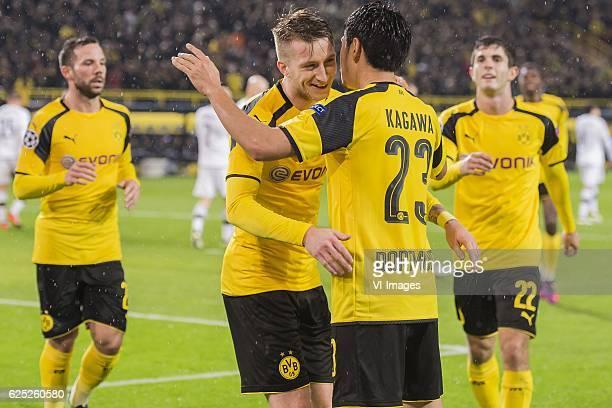 Gonzalo Castro of Borussia Dortmund Marco Reus of Borussia Dortmund Shinji Kagawa of Borussia Dortmund Christian Pulisic of Borussia Dortmundduring...