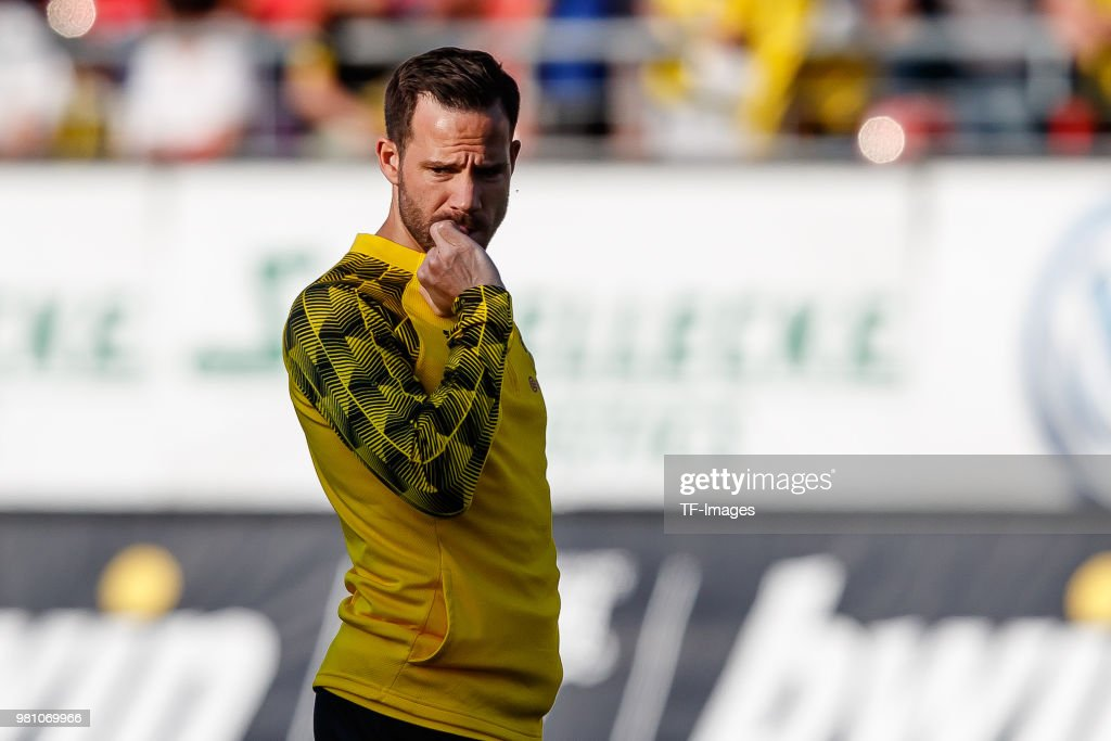 Gonzalo Castro of Dortmund looks on during the Friendly Match match between FSV Zwickau and Borussia Dortmund at Stadion Zwickau on May 14, 2018 in Zwickau, Germany.