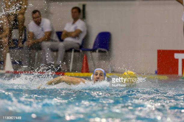 Gonzalo Echenique of Pro Recco during the Champions League water polo match between Pro Recco and Barceloneta on march 15 2019 at Piscina Monumentale...