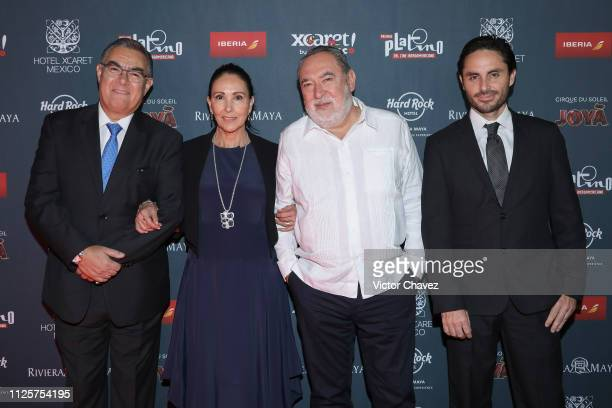 Gonzalo Elvira Blanca Guerra Adrian Solar and Paulino Hemmer attend a red carpet for the shortlist presentation of the Premios Platino at Cineteca...