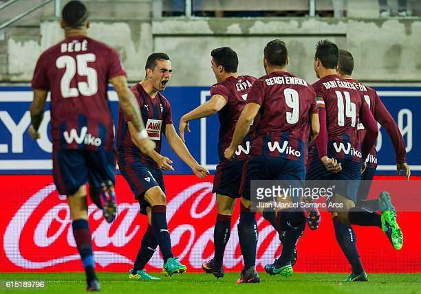 Gonzalo Escalante of SD Eibar celebrates after scoring goal during the La Liga match between SD Eibar and CA Osasuna at Ipurua Municipal Stadium on...
