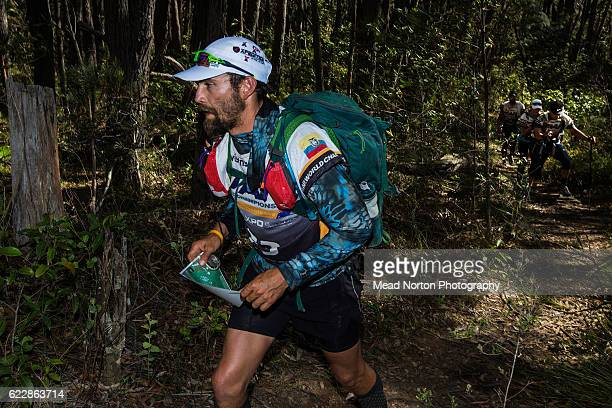 Gonzalo Espinosa from Team Terra Aventura Blue Card from Ecuador hiking up to 'The Castle' in Morton National Park during the Adventure Race World...
