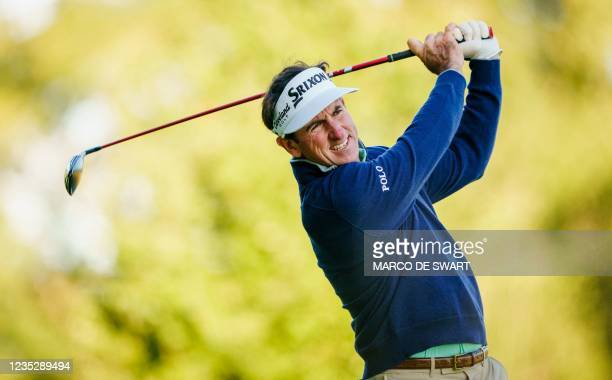 Gonzalo Fdez-Castano plays on the first day of the KLM Open in Cromvoirt, The Netherlands, on September 16, 2021. - The 101st edition of the...