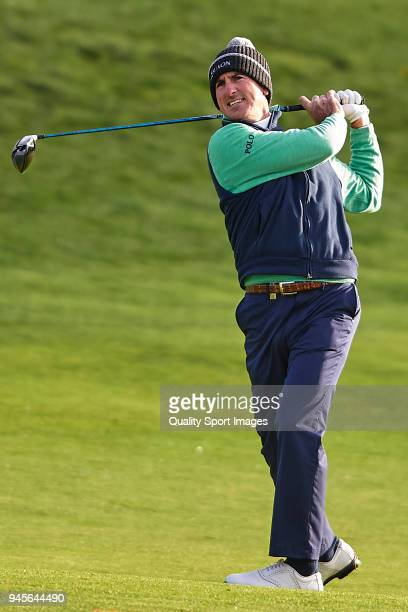 Gonzalo Fernandez Castano of Spain in action during day two of Open de Espana at Centro Nacional de Golf on April 13 2018 in Madrid Spain