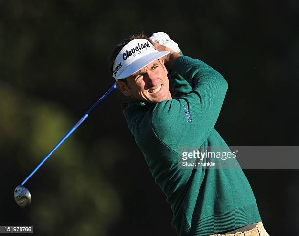 Gonzalo Fernandez Castano of Spain plays a shot during the second round of the BMW Italian open at Royal Park Golf Country Club on September 14 2012...
