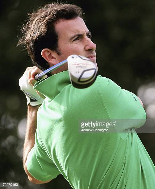 Gonzalo FernandezCastano of Spain hits his teeshot on the second hole during the first round of the Volvo Masters at Valderrama Golf Club on October...