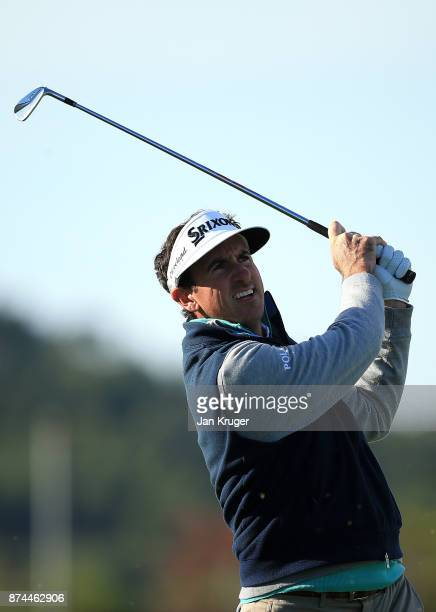 Gonzalo FernandezCastano of Spain in action during the fifth round of the European Tour Qualifying School Final Stage at Lumine Golf Club on November...