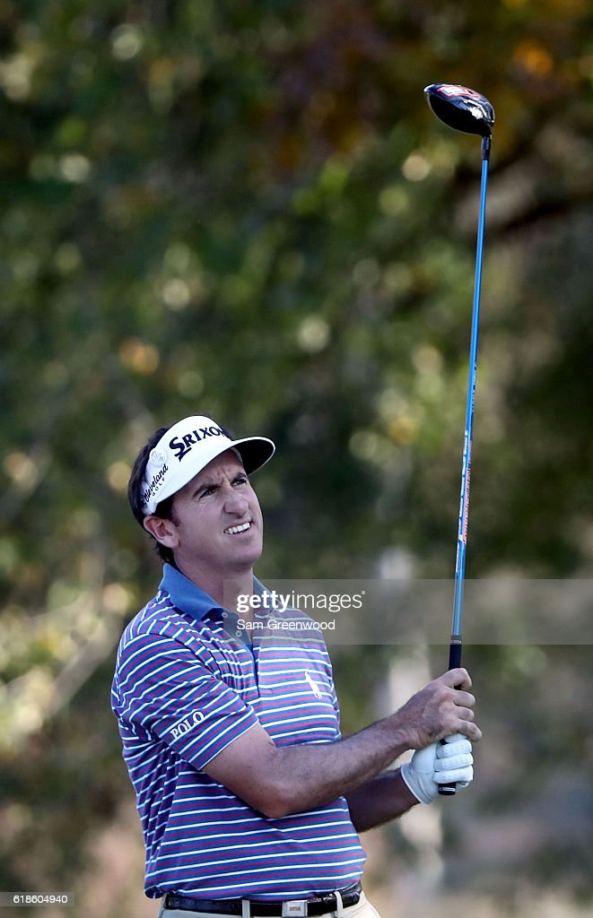 Gonzalo Fernandez-Castano of Spain plays his shot from the 18th tee during the First Round of the Sanderson Farms Championship at the Country Club of Jackson on October 27, 2016 in Jackson, Mississippi.