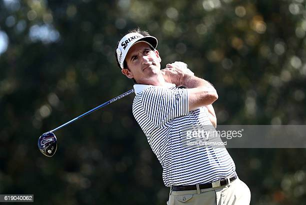 Gonzalo FernandezCastano of Spain plays his shot from the fifth tee during the Third Round of the Sanderson Farms Championship at the Country Club of...