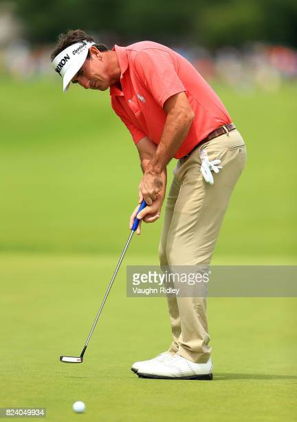 Gonzalo FernandezCastano of Spain putts during the second round of the RBC Canadian Open at Glen Abbey Golf Club on July 28 2017 in Oakville Canada