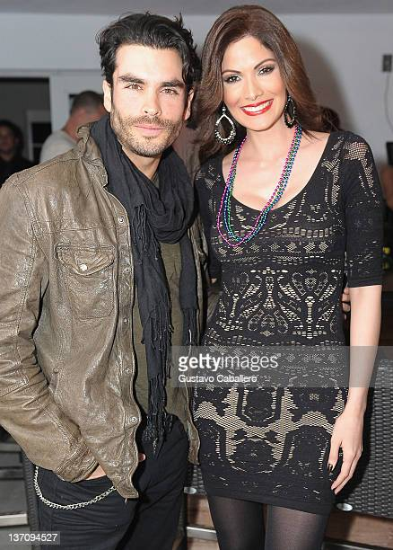 Gonzalo Garcia Vivanco and Cynthia Olavarria attends Ana Layevska's birthday party at the Breakwater Hotel on January 14 2012 in Miami Beach Florida