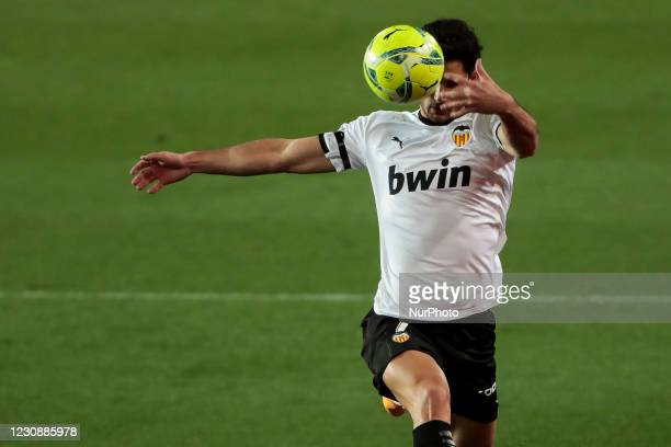 Gonzalo Guedes of Valencia CF during spanish La Liga match between Valencia cf and Elche CF at Mestalla Stadium on January 30, 2021.