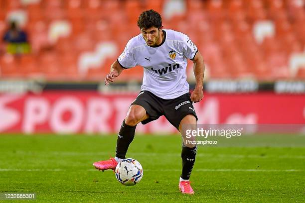 Gonzalo Guedes of Valencia CF during the La Liga match between Valencia CF and FC Barcelona played at Mestalla Stadium on May 2, 2021 in Valencia,...