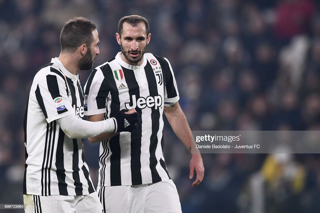 8e3a91ac1c5 Gonzalo Higuain and Giorgio Chiellini in action during the serie A ...