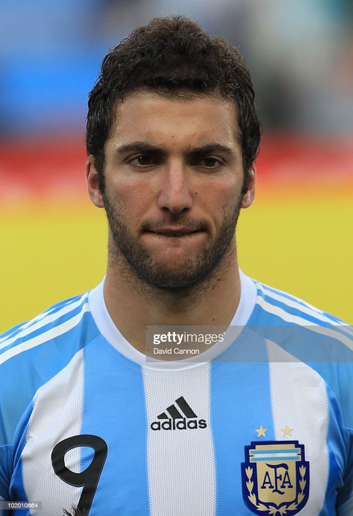 Gonzalo Higuain of Argentina during the 2010 FIFA World Cup South Africa Group B match between Argentina and Nigeria at Ellis Park Stadium on June 12, 2010 in Johannesburg, South Africa.